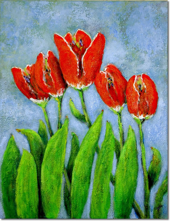 Los Tulipanes Rojos : Símbolo de Esperanza  y Expresión Artística Por La Dra. De Leon